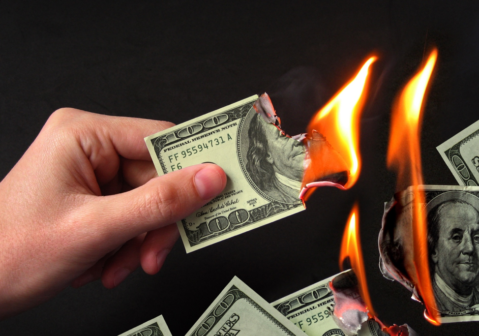 Burning Revenue and Negativity