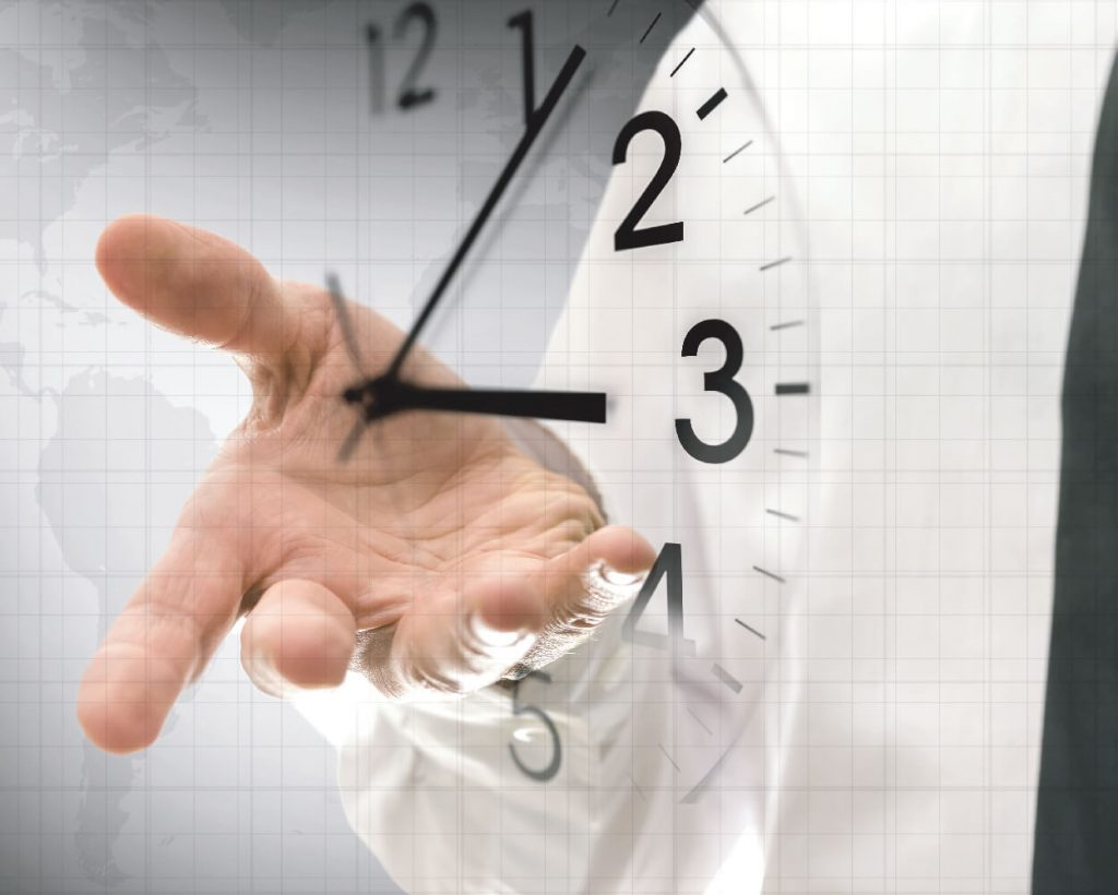 Thirty minutes each day represented by hand and clock