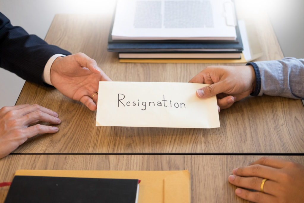 A Letter of Resignation