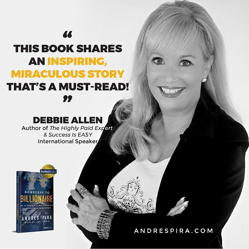 Debbie Allen's Homeless to Billionaire book testimonial.