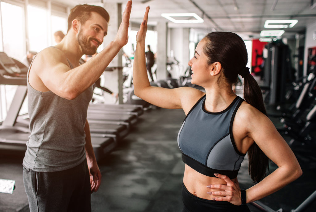 Two People at A Gym