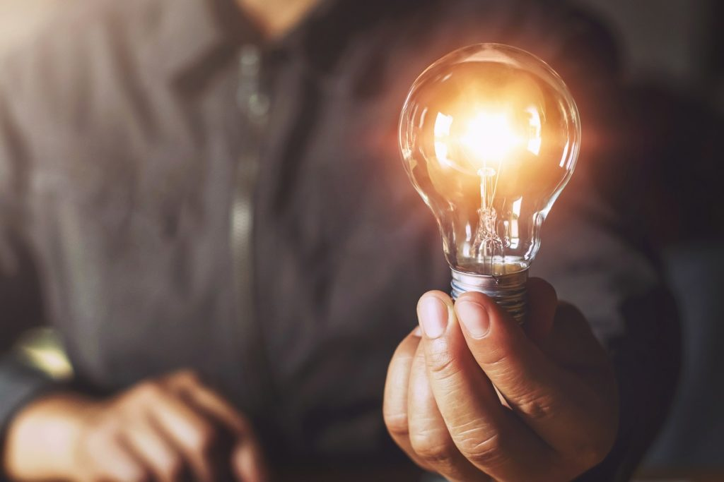 A Lightbulb Symbolizes Big Ideas