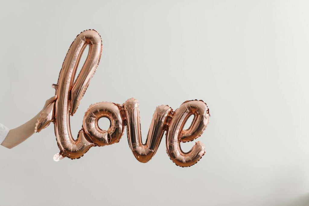 Love brown balloon